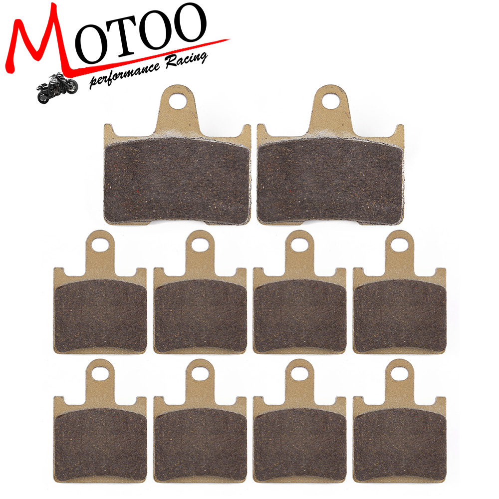 Motoo - Motorcycle Front and Rear Brake Pads For KAWASAKI ZG1400 ZZR GTR ZX 1400 NINJA ZX-14R 2006-2017