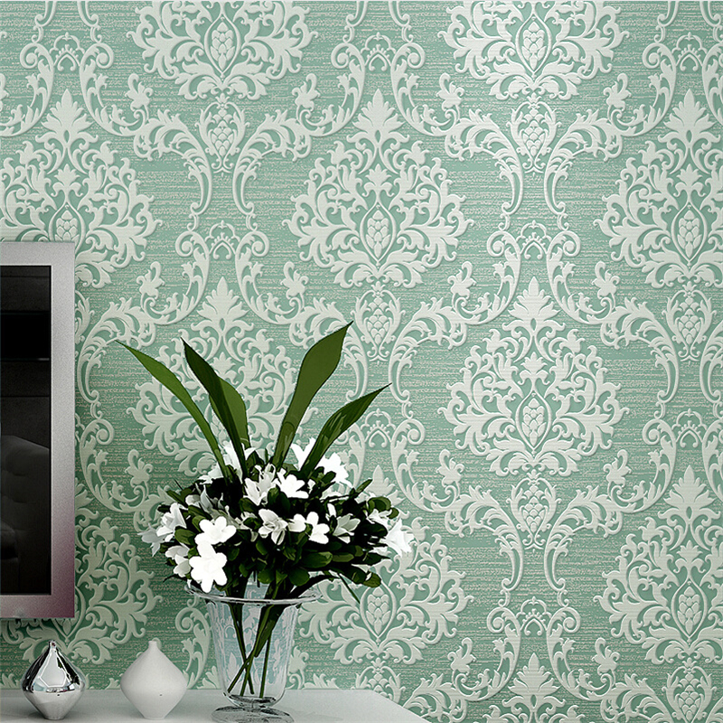 Beibehang Embossed Damascus Papel De Parede 3D Wall Paper Papel De Parede Wallpaper For Living Room Bedroom TV Sofa Background