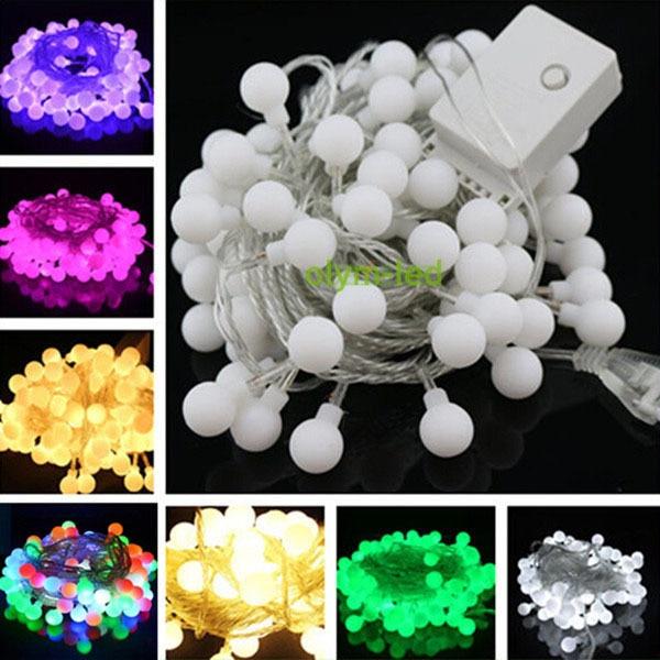 25x 10m 100 led globe string light cool white outdoor led christmas ball string lights wedding - 100 Led Christmas Lights