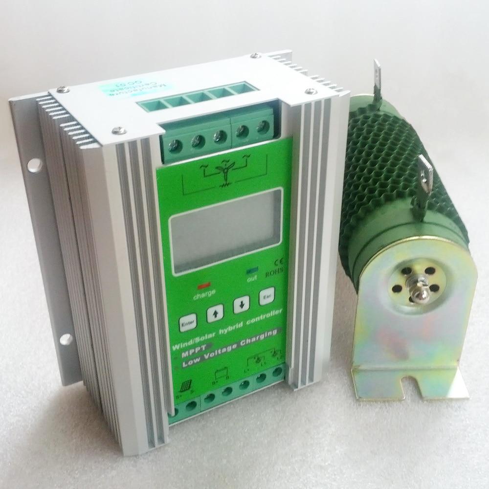 MPPT Vent Solaire Hybride Contrôleur de Charge 300 W 400 W 500 W 600 W vent turbine générateur contrôleur et 200 W 300 W 400 W solaire contrôleur