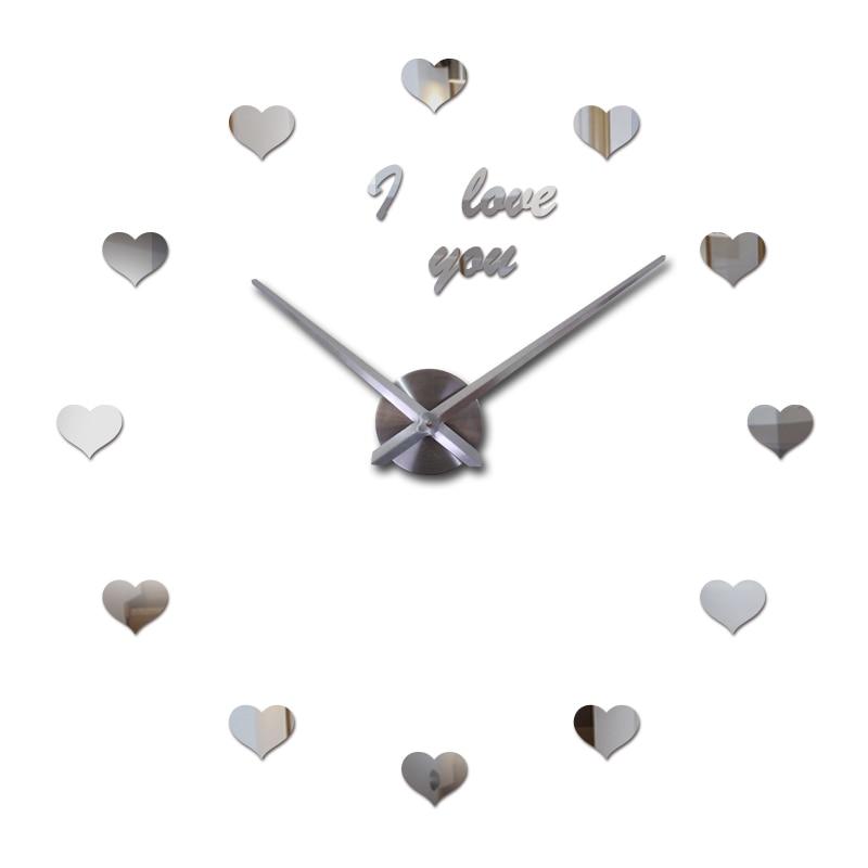 2019 nové nástěnné hodiny reloj de pared quartz sledovat evropa horloge domácí obývací pokoj 3d akrylové zrcadlo vintage hodiny