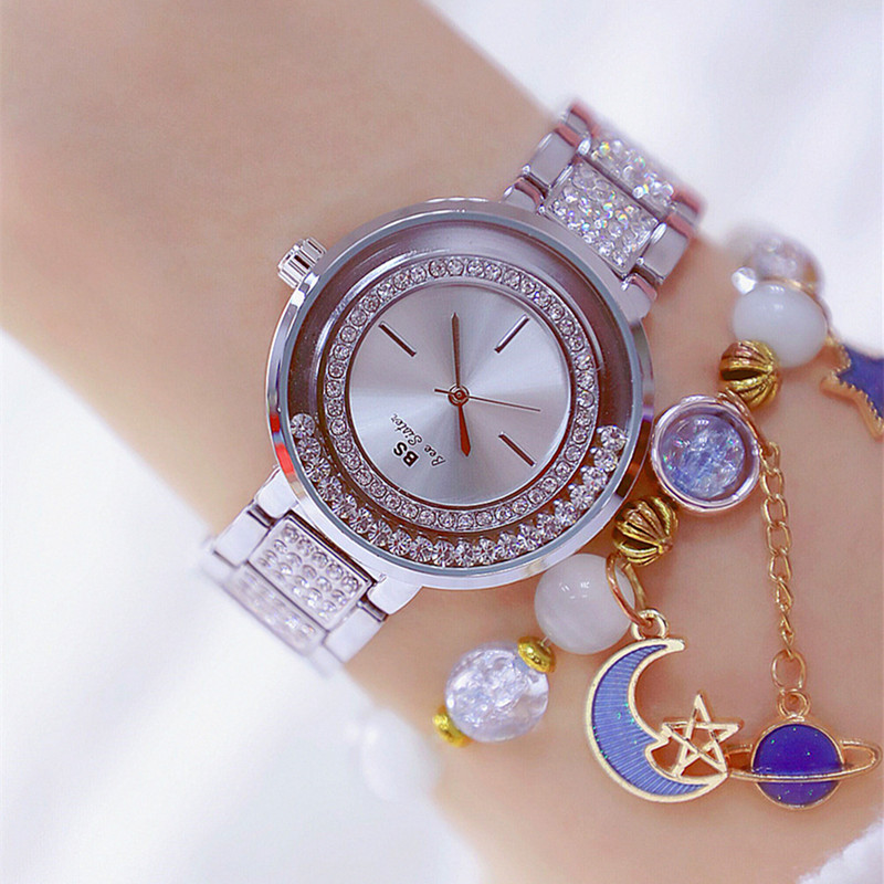 New Hotselling High-end Linked Watch Can Be Customized Mobile Rhinestone Without Digital Dial with Strap Ladies