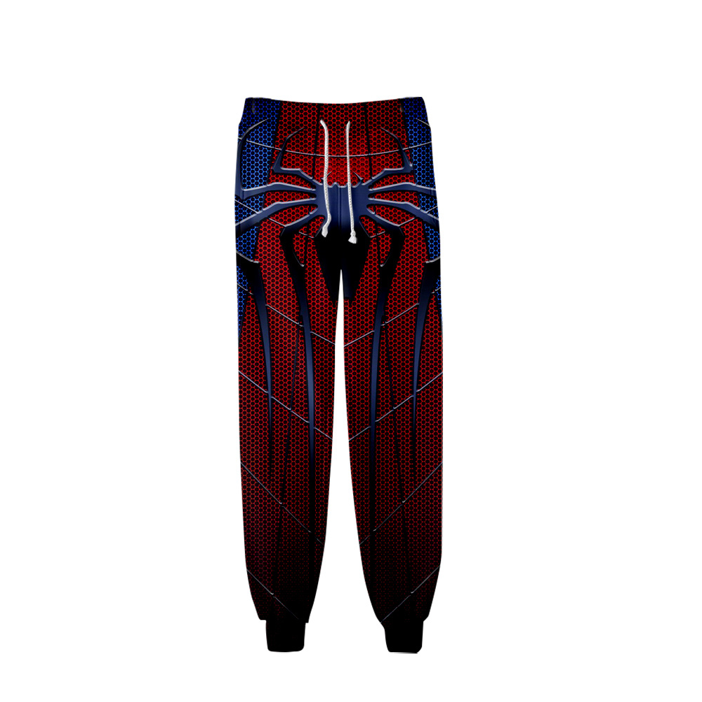 Men Pants Sportswear Street-Trousers Fitness Joggers Home-Print Casual Hip-Hop Spider-Man