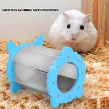 Cute Wooden Hamster Nest House Small Pet Playing Cage Sleeping Bed Castle 36#(China)