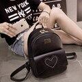 Mochila de para mujer mulheres moda fresco pequena bolsa de viagem de couro preto pu mochila feminina dupla mochila mochila da menina do adolescente