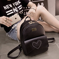 Mochila para mujer women fashion black pu leather backpack female cool small travel double backpack teenager girl backpack