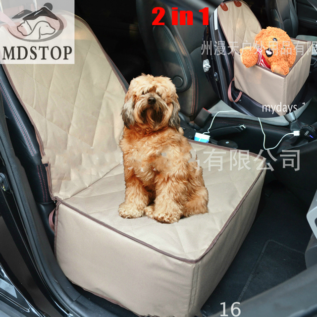 MDSTOP 2017 Waterproof 2 In 1 Dog Car Booster Seat All Front Covers Pet