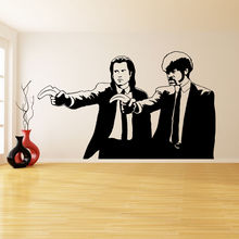Banksy Vinyl Wall Decal Pulp Fiction Movie Art Home Room Decor Removable Two Persons Sticker Murals AY0161