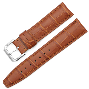 Image 4 - iStrap High quality Alligator Grain Genuine Leather Watch Band Strap Bracelet Butterfly Deployment Clasp 20mm 21mm 22mm for IWC