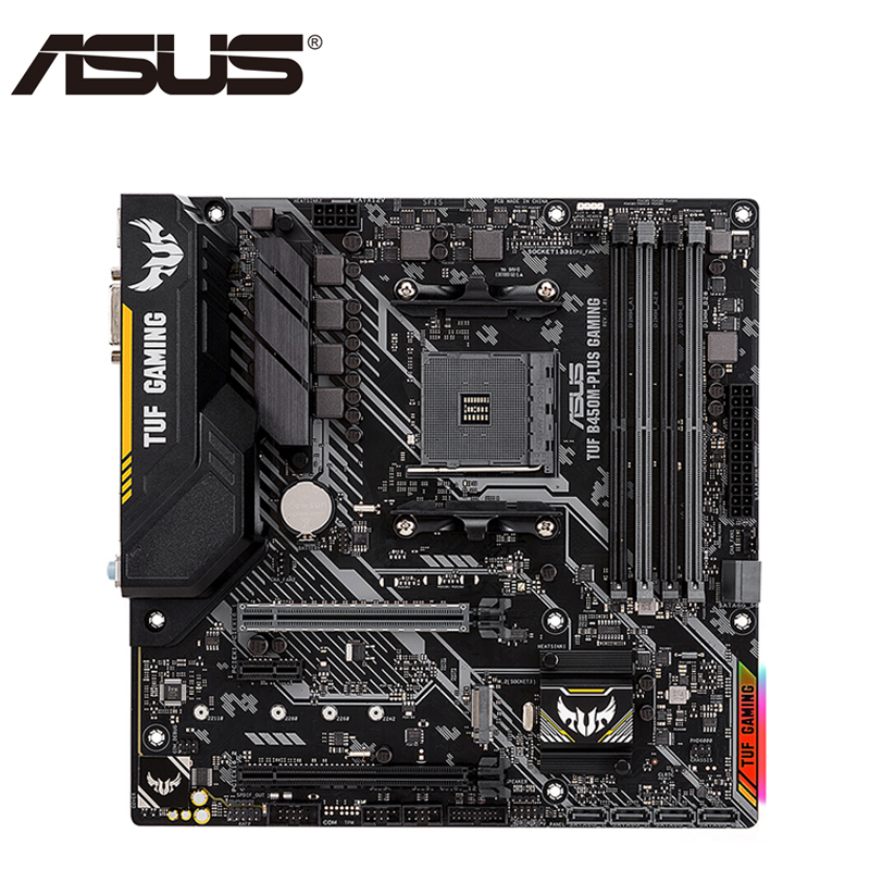 ASUS TUF B450M-PLUS ATX Motherboard AM4 Socket GAMING AMD B450 Desktop Mainboard   Dual Channel DDR4 Mother Board
