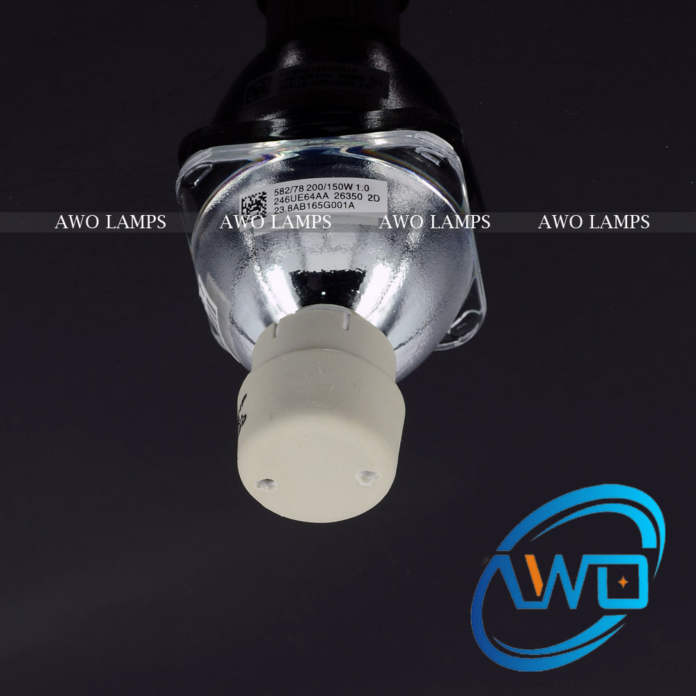 AWO 100% Original UHP200/150W1.0 E20.6 for BENQ Projector Lamp 5J.JAG05.001/5J.J7K05.001 MX600 original projector lamp cs 5jj1b 1b1 for benq mp610 mp610 b5a