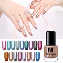 NEE JOLIE 3.5ml Mirror Nail Polish Gold Sliver Shiny Color Metallic Art Effect Colorful Varnish