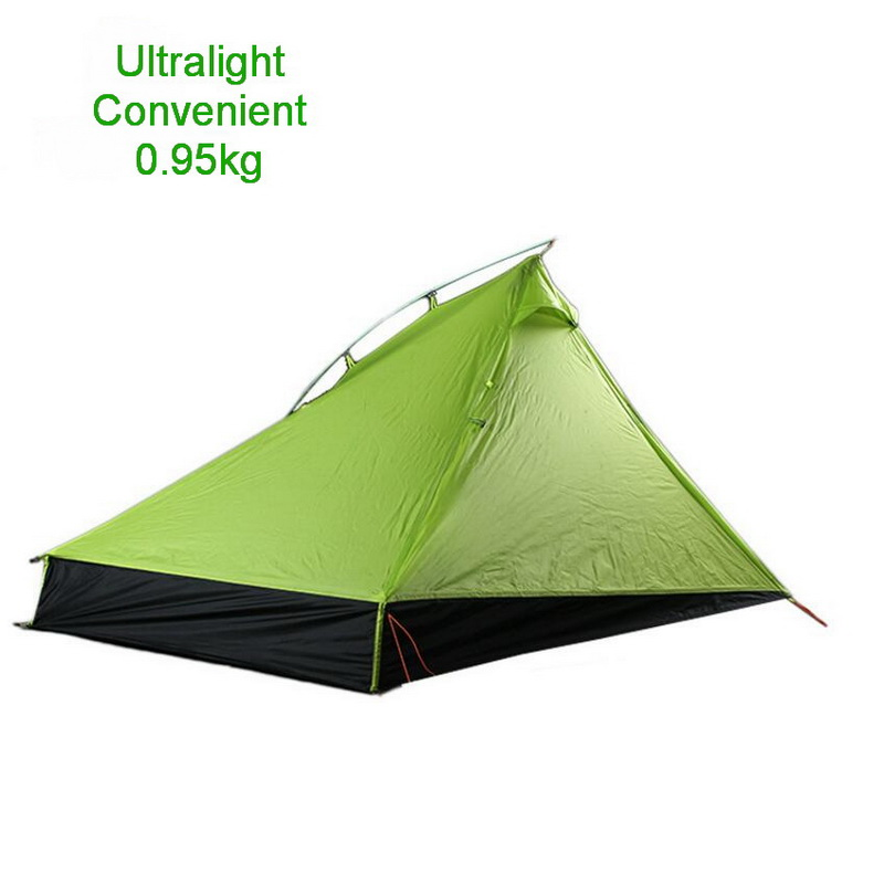 0 95kg outdoor ultra light hiking tent double wind and rainstorm camping mountaineering single pole tent