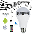 5W Wireless LED Bluetooth Speaker Bulbs Music Playing LED Audio Speaker AC220V Phone Control For iOS Android Bluetooth  3.0