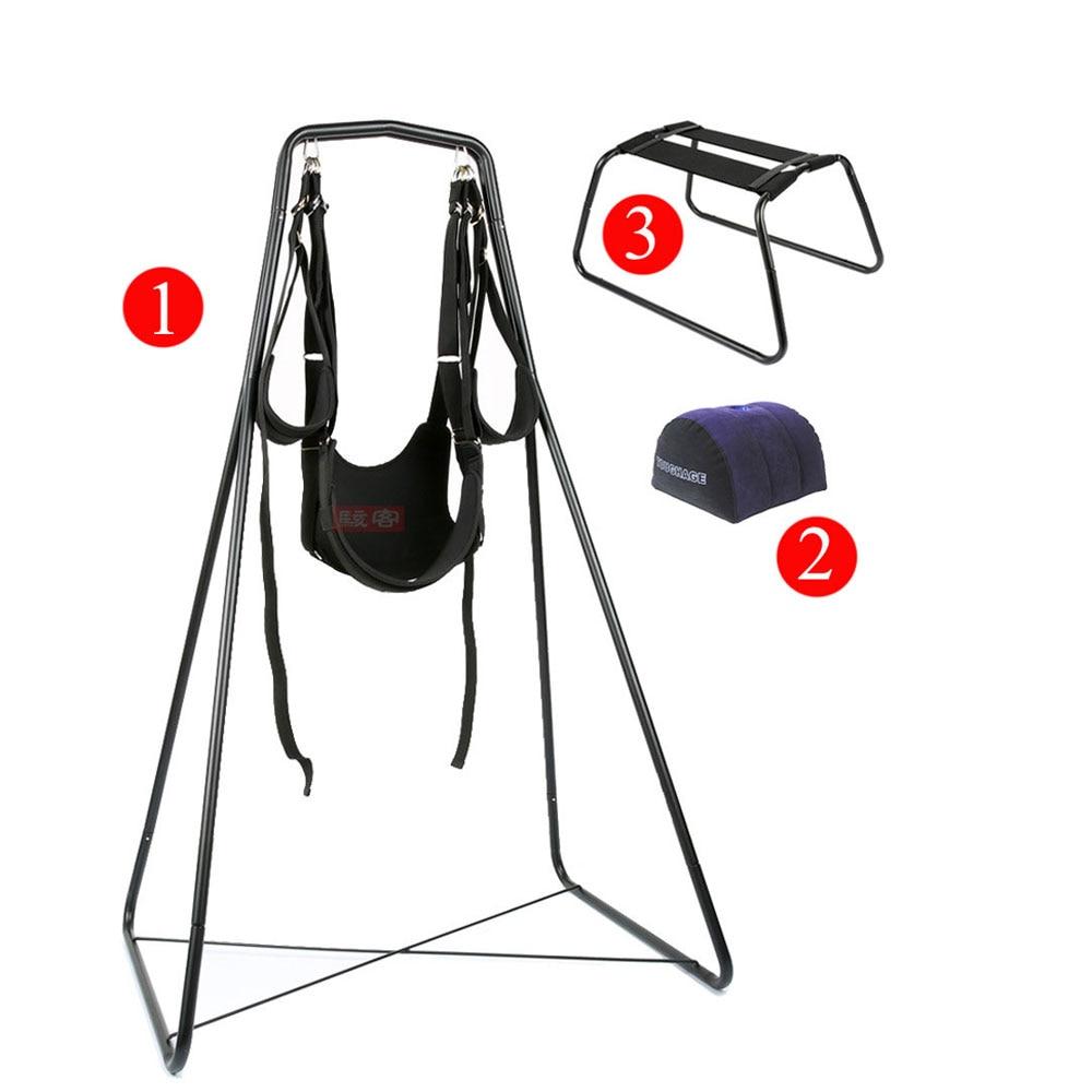 3 pièces ensemble sexe balançoire stand hamac suspendu chaise oreiller coussin luxe sexe meubles érotique adulte sexe jeux sex toys pour couples