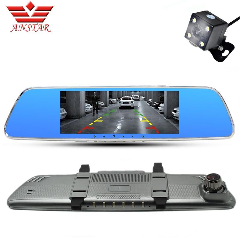 ANSTAR Car Dvr Rearview Mirror Camera Video Recorder Dual Lens FHD 1080P Dash Cam Camcorder Parking Assistance vehicle camera