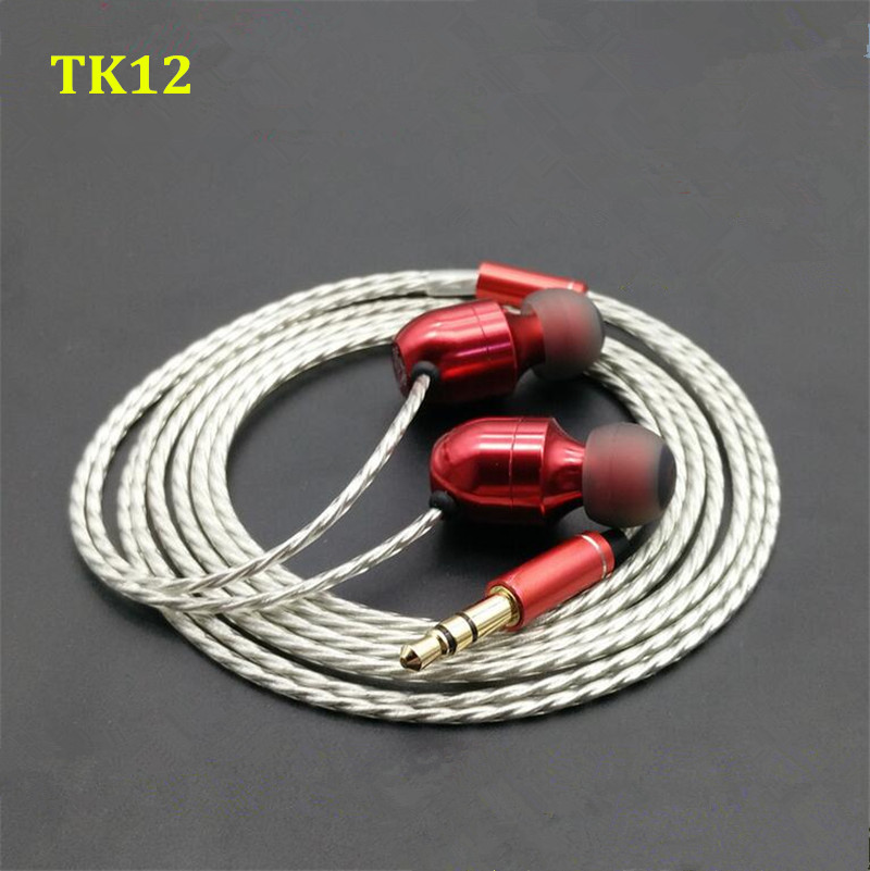 2016 New MusicMaker TK12 Dynamically And 2 BA 3 Unit Earbuds HIFI Fever Music Marker In Ear Earphone DIY Custom Hybrid Headset original senfer dt2 ie800 dynamic with 2ba hybrid drive in ear earphone ceramic hifi earphone earbuds with mmcx interface