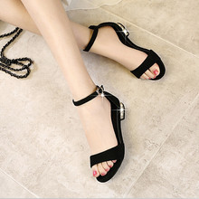 Women Sandal Summer Shoes Peep Toe Casual Buckle Strap Female Sexy Sandals