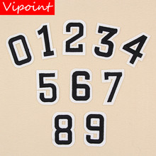 VIPOINT embroidery figure patches number badges applique for clothing XW-57