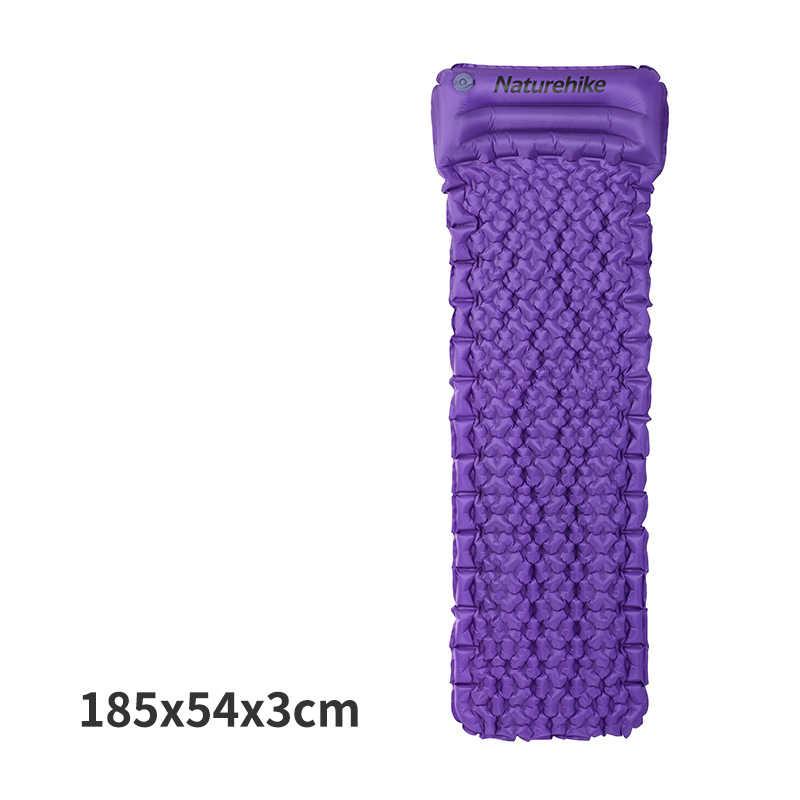 NatureHike Outdoor Inflatable Cushion Sleeping Bag Tikar Cepat Mengisi Air Moistureproof Camping Mat dengan Bantal Tidur Pad 460G