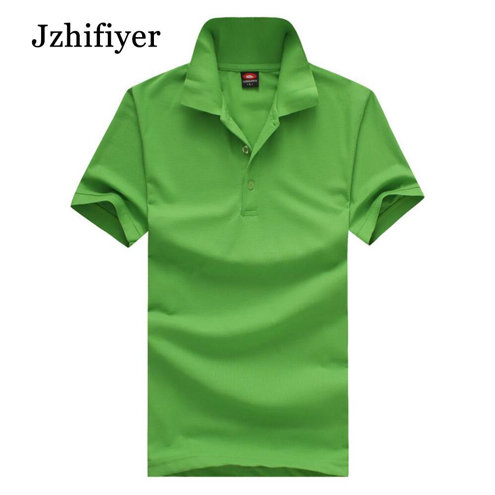 jzhifiyer пустой футболки-поло 200г мужская рубашка оптовая 35% хлопок + 65% полиэстер футболки-поло мульти-цветов камиза поло отложным