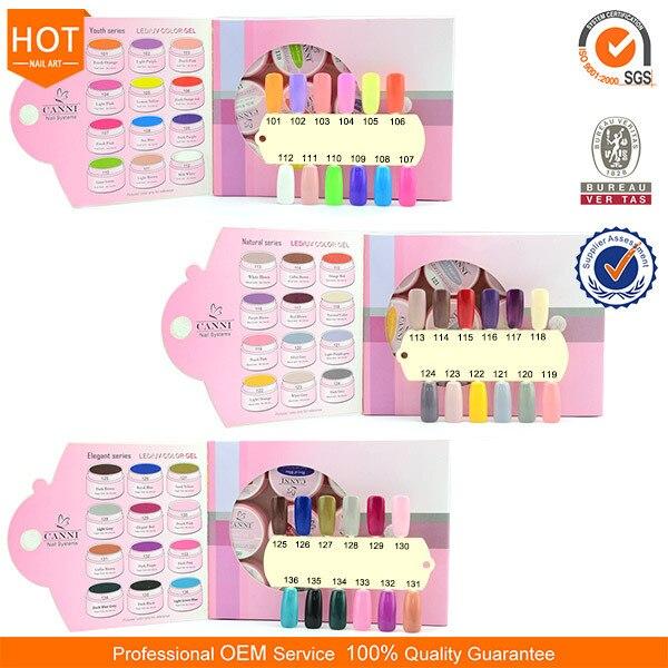#30611  CANNI   3 Series UV/LED Color gel 12pcs/set Soak Off UV/LED Color Gel Kit  Color Professional UV/LED Gel Pain System