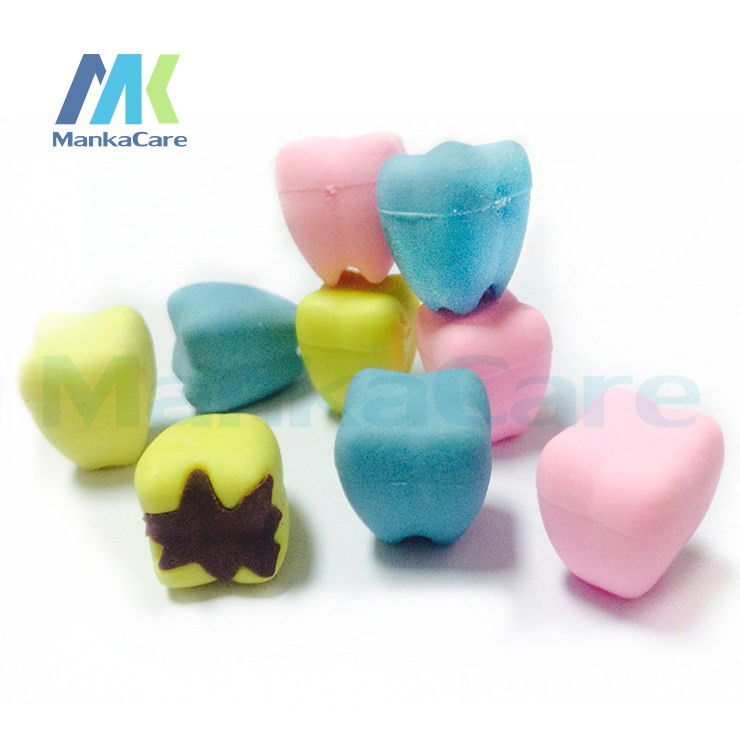 50 Pcs Special Cute Tooth Type Eraser Rubber Eraser Cleansing Kid Child Gift Toy School Stationery Products Dental Clinic Gift