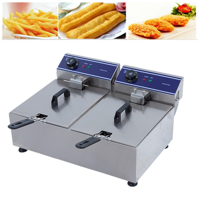 CE approved Commercial Chicken Fryer Deep Fryer Electric Fryer Mini Fryer Basket Potato Frying Machine Groundnut Frying Machine 220v electric deep fryer 8l commercial air fryer potato chip french fries chicken fryer