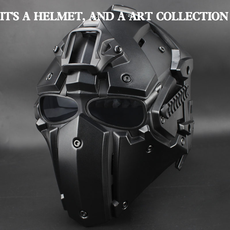 Tactical Airsoft Full Face Paintball Mask Military Army Adjustable Protective CS Game Mask Helmet Tactical