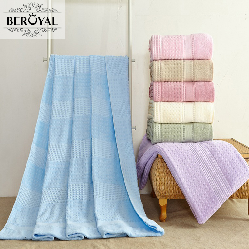 ФОТО Beroyal 100% Cotton Plaid Blanket Baby Organic Blankets Sofa Bed Cover Spread Throws Spring Autumn Beach Towel Bath Towels