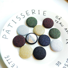 Diy handmade jewelry accessories south Korea pearlescent glitter wafer button earrings earring pendant material цена