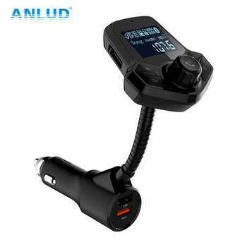 ANLUD FM Transmitter Bluetooth FM Modulator Quick Charge 3.0 Car Charger Handsfree Car Kit Lossless Music MP3 Player usb