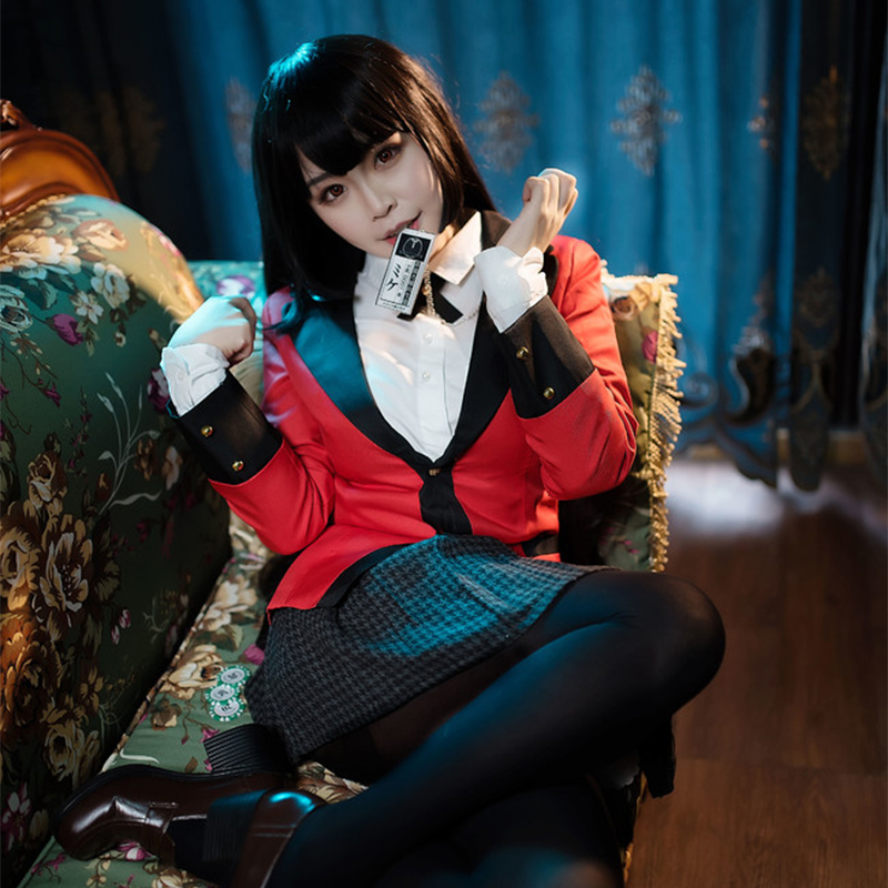 Kakegurui Yumeko Jabami Japanese School Girls Uniform Cosplay Costumes Jabami Yumeko Cosplay