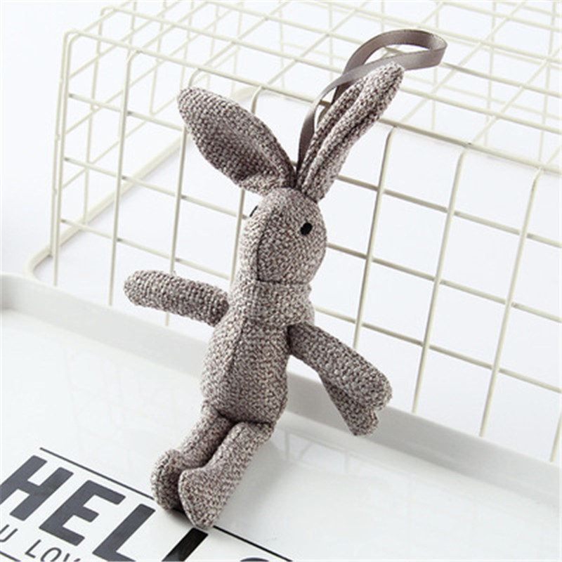 NEW-Rabbit-Plush-Animal-Stuffed-Dress-Rabbit-Key-chain-TOY-Kid-s-Party-Plush-TOY (2)