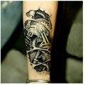 2 pcs 3D porca de fixação do braço mecânico warterproof Temporária corpo adesivo tattoo para homens braço Tatuagem tatuagem