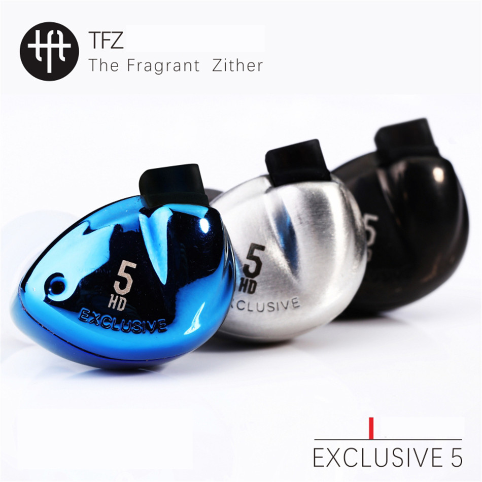 TFZ EXCLUSIVE 5 Inner-Ear Earphones HiFi Audiophile Graphene Driver with Detachable Cables Earphone Hifi Music Monitor Earbuds original tfz exclusive king hifi monitor
