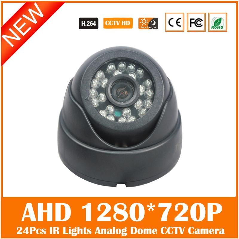 Ahd 720p Cctv Dome Camera Cmos Indoor Nightvision Ircut Filter Home Security Surveillance Systems Infrared Freeshipping Hot