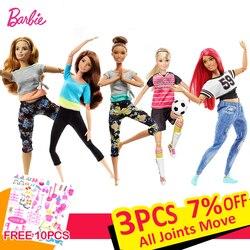 Bonecas Barbie Original Gir Americano Estilo 6 Ginástica o Movimento Das Articulações Boneca Brinquedos para As crianças das Meninas UM Presente de Aniversário Do Bebê bonecas