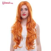 Парик л-электронной новые женские косплей парики 75 см длинные волнистые 2 цвета жаропрочных синтетических волос Perucas Косплей