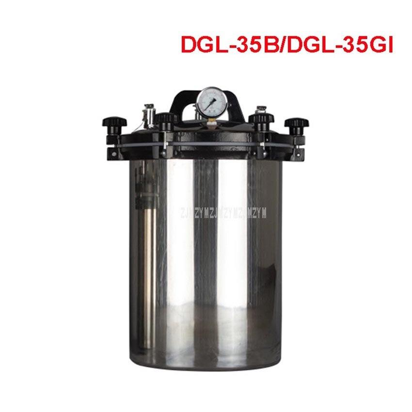 35L Portable Stainless Steel Sterilization Pot Pressure Steam Sterilizer Autoclave Pot Surgical Medical DGL-35B/35GI 2KW/3KW