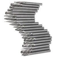 Hot Sale 20Pcs Set 1 8 Inch 3mm Tungsten Carbide Cutter Rotary Burr Set CNC Engraving