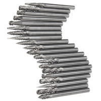 Hot Sale 20Pcs Set 1 8 Inch 3mm Tungsten Carbide Cutter Rotary Burr Set CNC Engraving