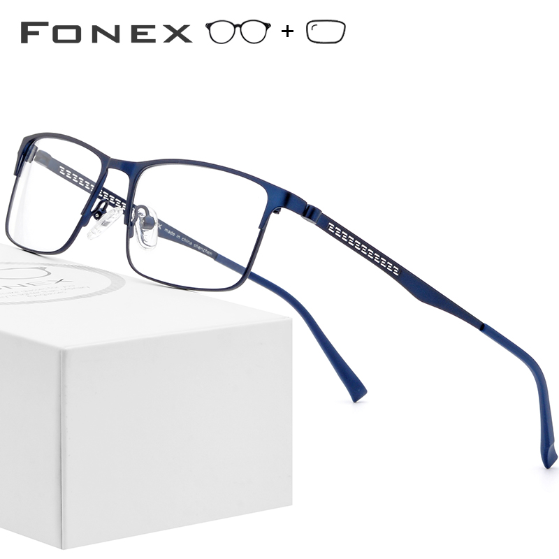 Alloy Optical Prescription Glasses Frame Men Square Myopia Eyeglasses Frames 2019 Male Metal Full Korea Eyewear Spectacles 9287(China)