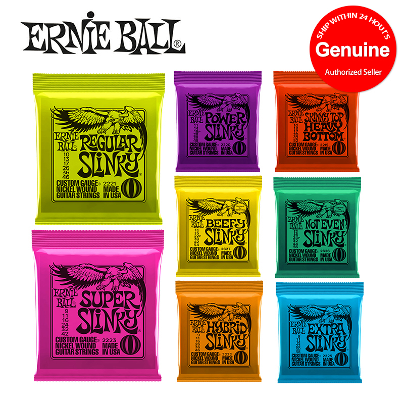 Hot! Ernie Ball Guitar String 2627 2223 2221 2627 2626 2215 Nickel Beefy Slinky Drop Tuning Electric Guitar Strings Wound Set