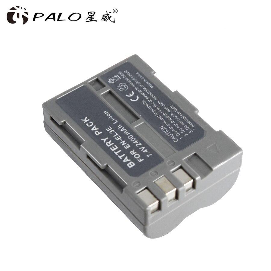 PALO Battery for Nikon EN-EL3e EN EL3e ENEL3e Battery For Nikon D300S D300 D100 D200 D700 D70D70S D80 D90 D50 D70 D-100 D-300 2x 2200mah en el3e enel3e battery usb charger for nikon d90 d80 d300 d300s d700 d200 d70 d50 d70s d100 d 100 d 300 d 70 d 90 slr