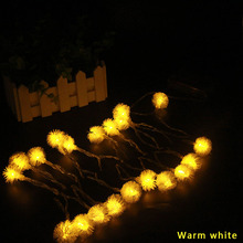 20 LED Dandelion Fairy String Lights Indoor Outdoor Garland on Batteries Powered Party Christmas Decoration 2m 3m 4m 5m 10m 20m