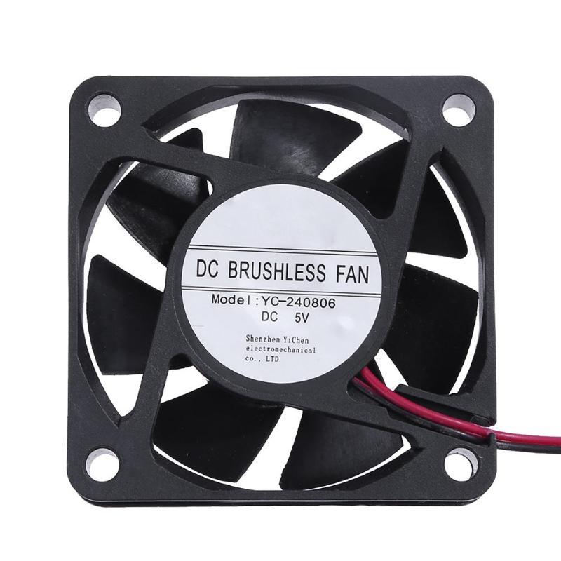 YC-240806 DC 5V PC Cooler Fan Computer Cooling Fan Radiator 59*59mm 7 Blades Ventilador Radiator W/ Ensitive Temperature Sensor