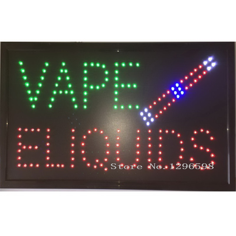60X33 CM New large vape eliquids E-Cig Liquid Vapor Vape Juice Accessories pipe pen tobacco LED store business Sign