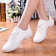 Zapatos aeróbicos para niños y adultos, calzado deportivo para gimnasia y baile, zapatillas de Jazz para porristas, zapatos de baile cuadrados para mujer