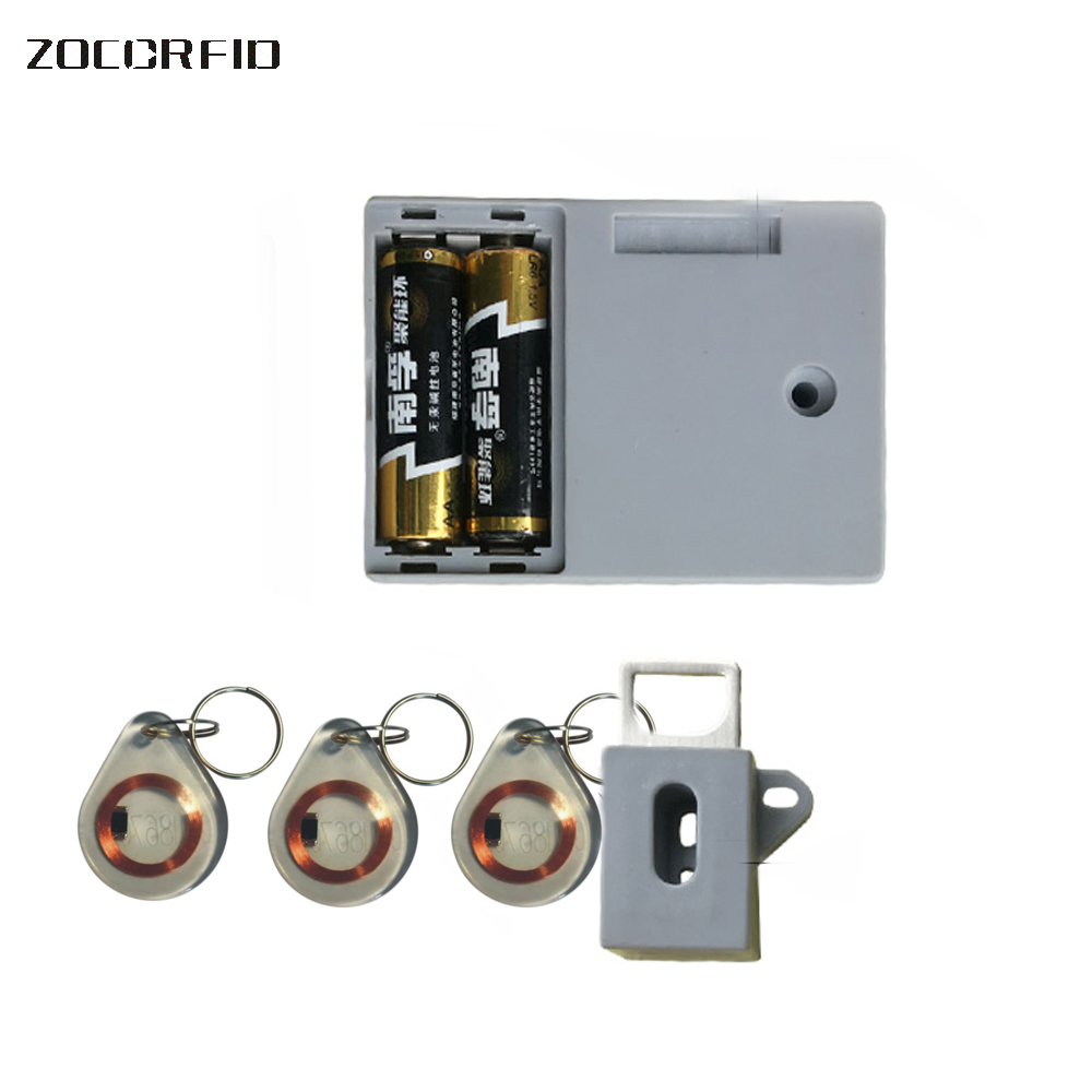 125KHZ EM RFID Private Locker Drawer RFID Card Lock Black Electronic  Invisible Hidden Rfid Cabinet Lock In Electric Lock From Security U0026  Protection On ...